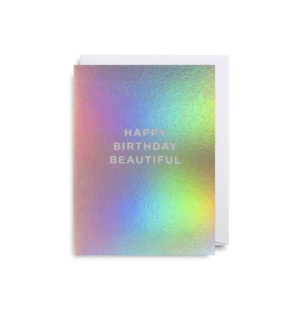 Happy Birthday Beautiful Mini Greeting Card