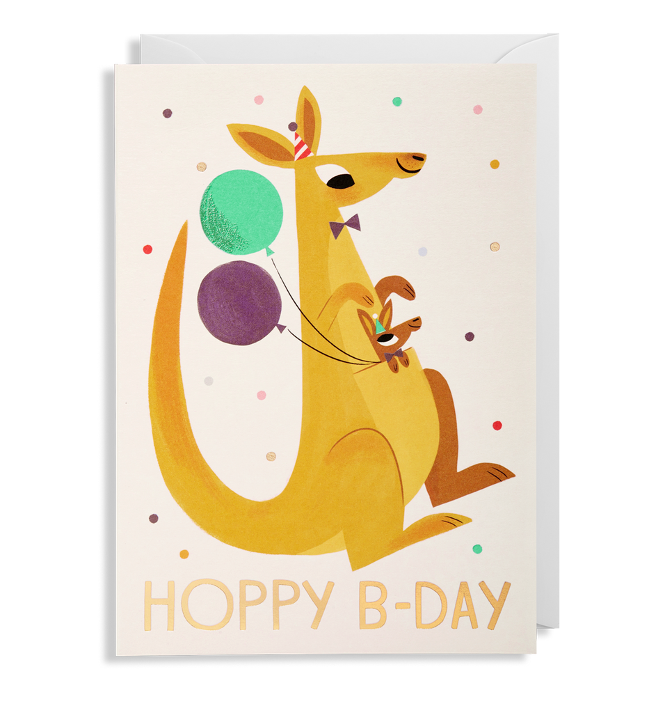 Hoppy B-Day Greeting Card