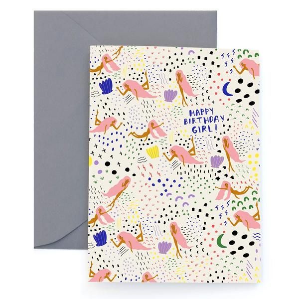 Happy Birthday Girl Greeting Card