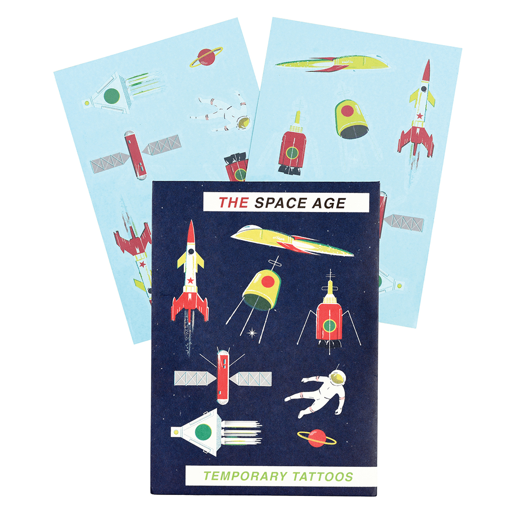 Space Age Temporary Tattoos: 2 Sheets