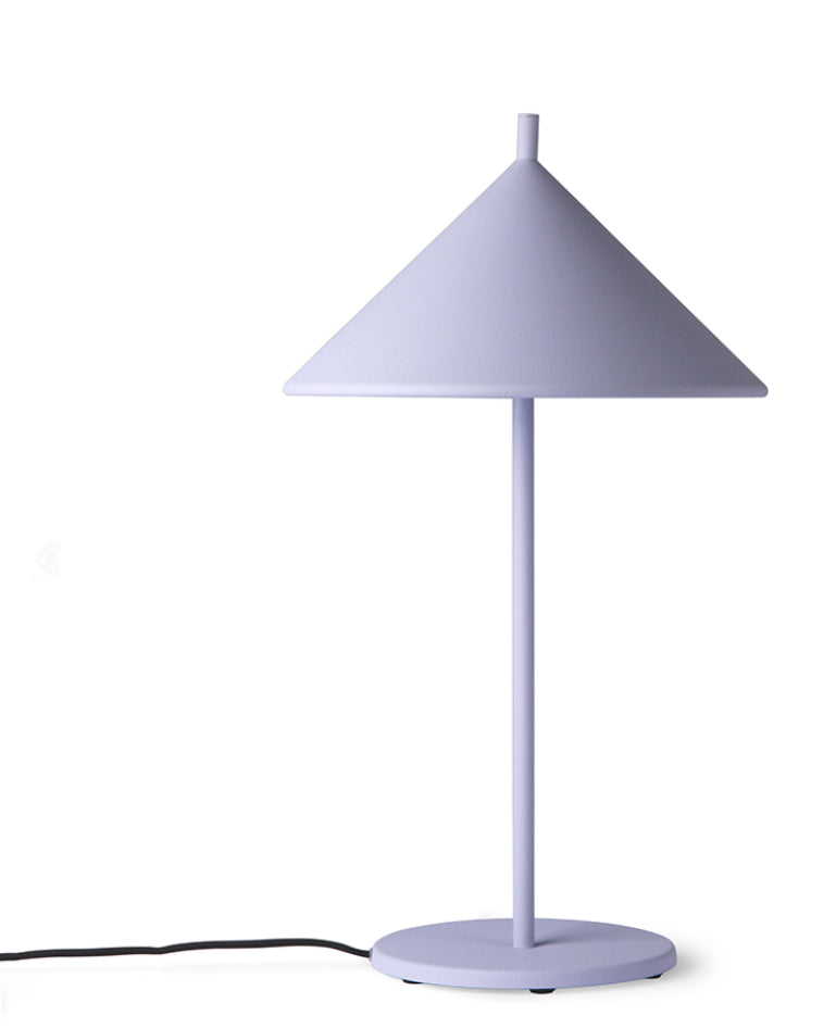 HK Living Matt Lilac Triangle Table Lamp