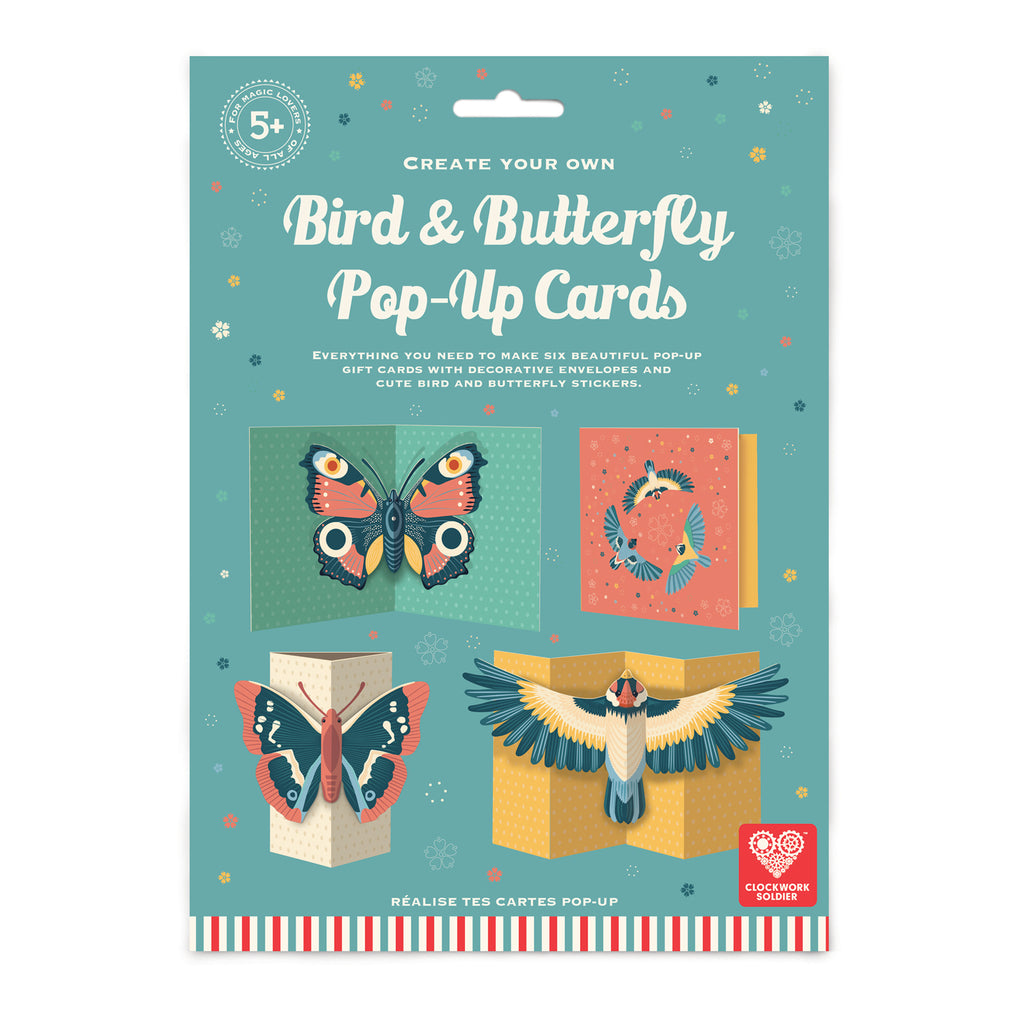 Make Your Own Pop Up Bird & Butterfly Cards