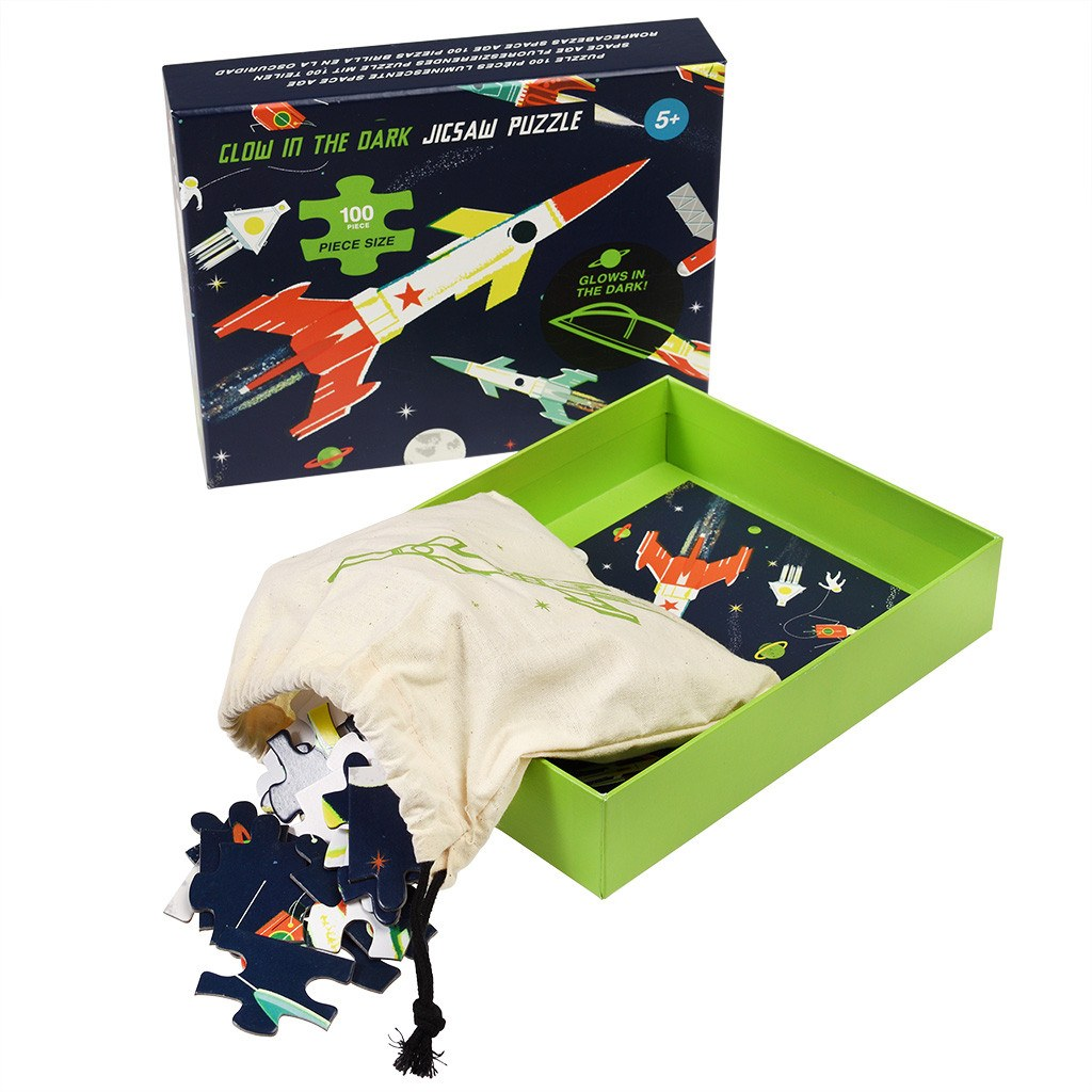 Space Age Glow In The Dark 100 Piece Puzzle