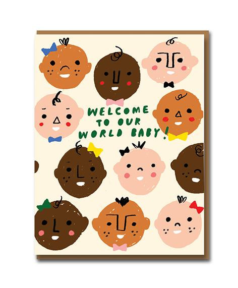 Welcome To The World Baby Greeting Card