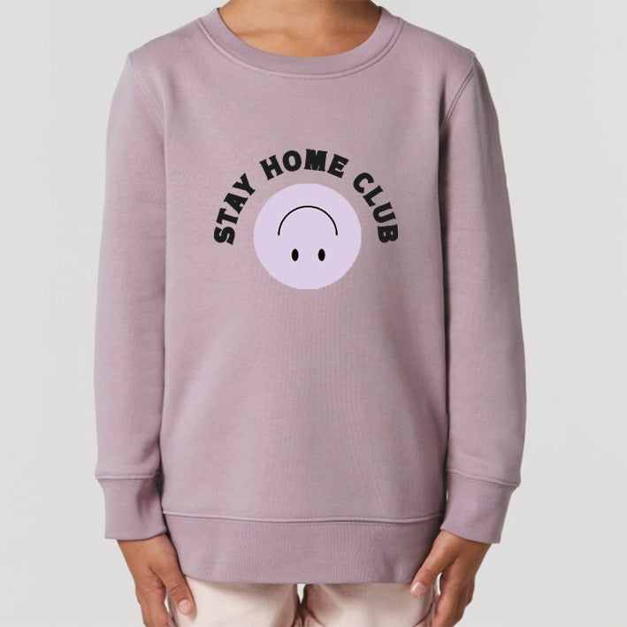 WORD COLLECTIVE STAY HOME CLUB Charity Lounge Sweat Lilac for littles