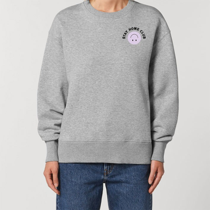 WORD COLLECTIVE STAY HOME CLUB Charity Lounge Sweat Grey Marl