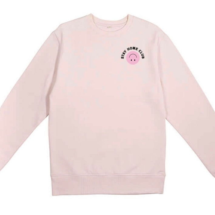 WORD COLLECTIVE STAY HOME CLUB Charity Lounge Sweat Soft pink
