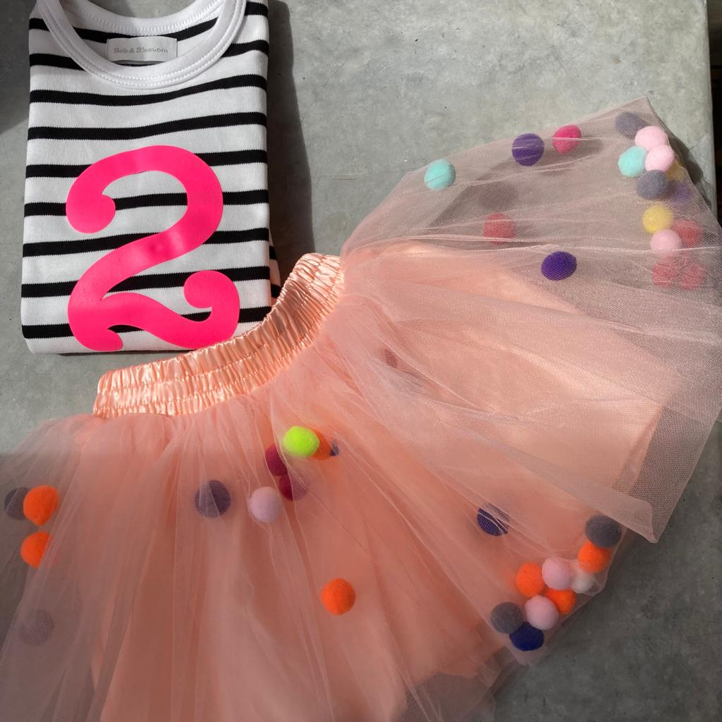 Little Poms Peach Tutu