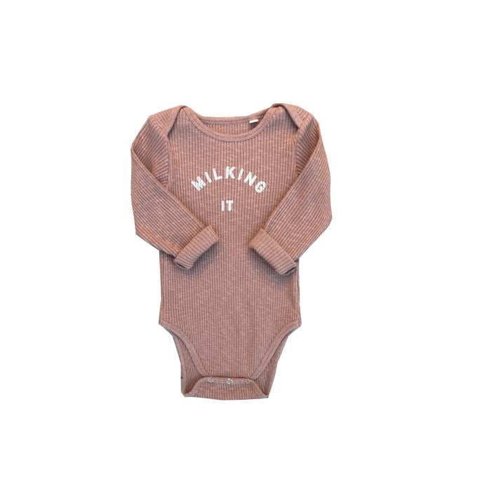 Claude & Co Milking It Pink Clay Rib Bodysuit