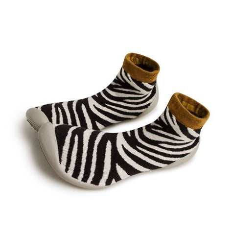 Collegien Zebra Slipper Socks