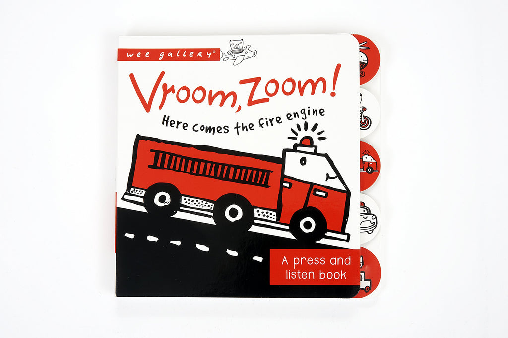 "Wee Gallery ""Vroom, Zoom!"" Press And Listen Book"