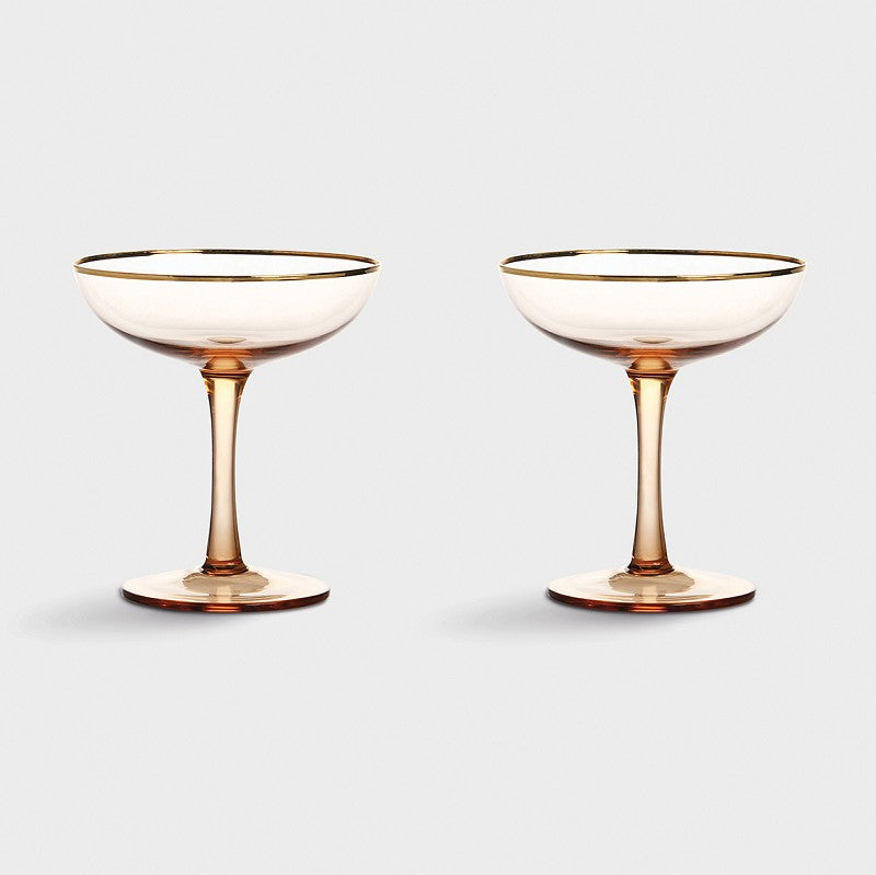 Klevering Coupe Champagne Pink Set Of 2
