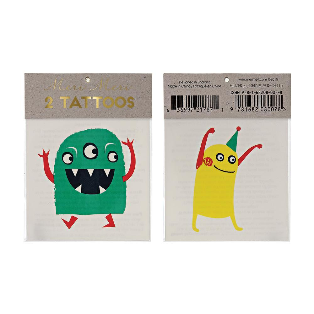 Meri Meri Monster Tattoo Set Of Two