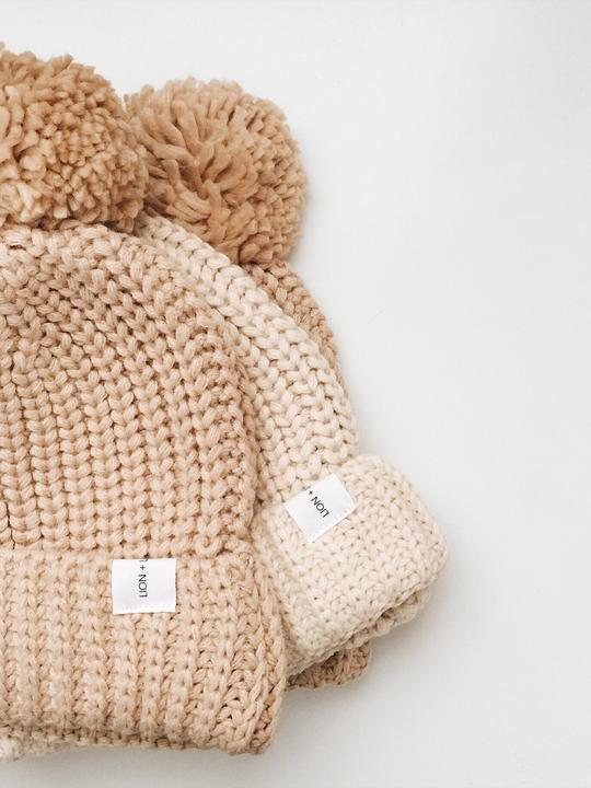 Lion + Lamb Kid's Knit Beanie Hat