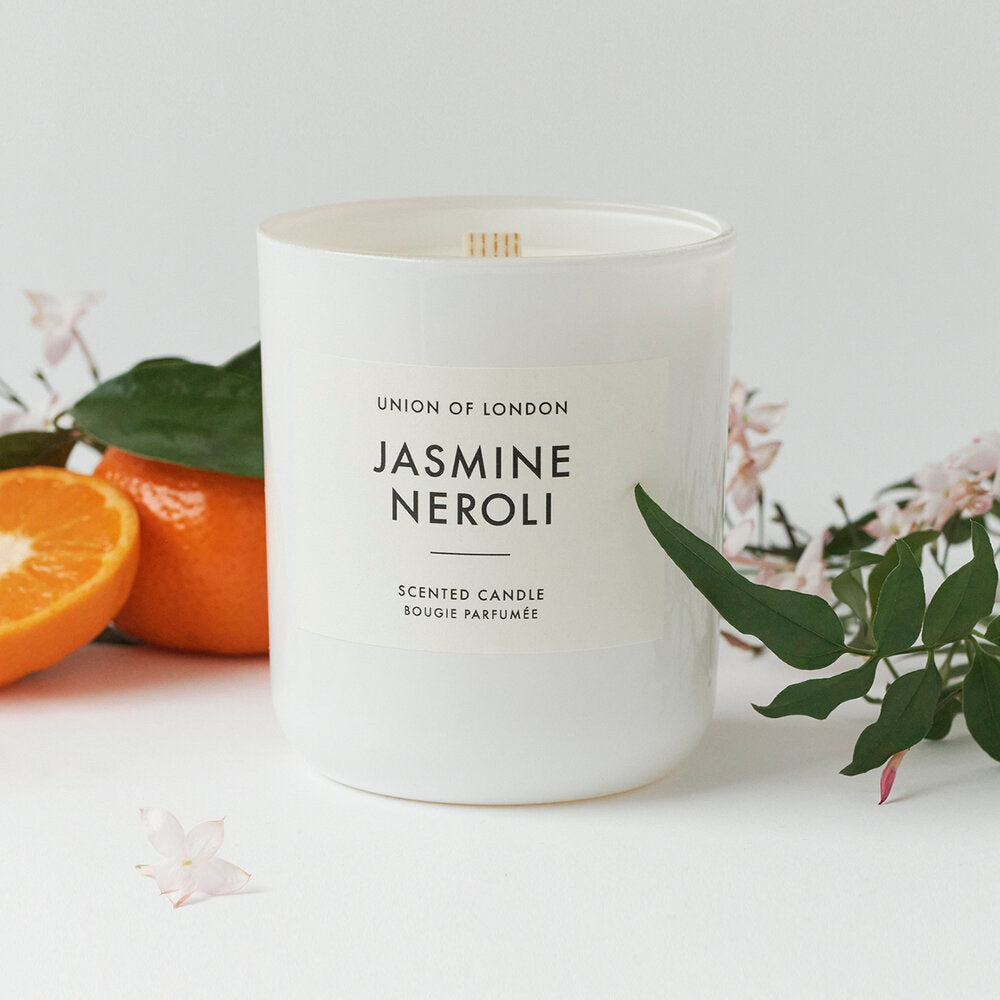 UOL Jasmine And Neroli Medium Candle: White