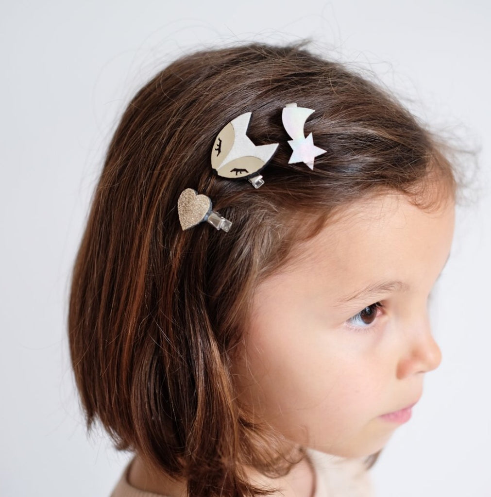Mimi & Lula Arctic Fox Hair Clip Set
