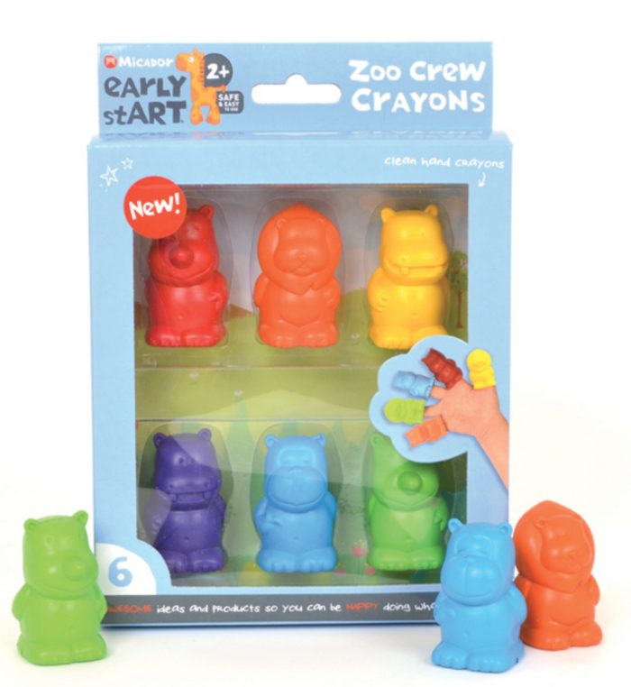 Zoo Crew Crayons, Pack Of 6