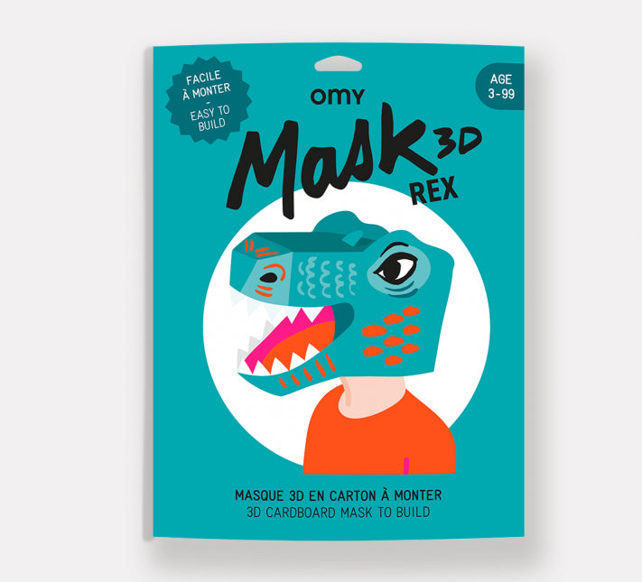 Omy Build Your Own Cardboard 3D Dinosaur Mask