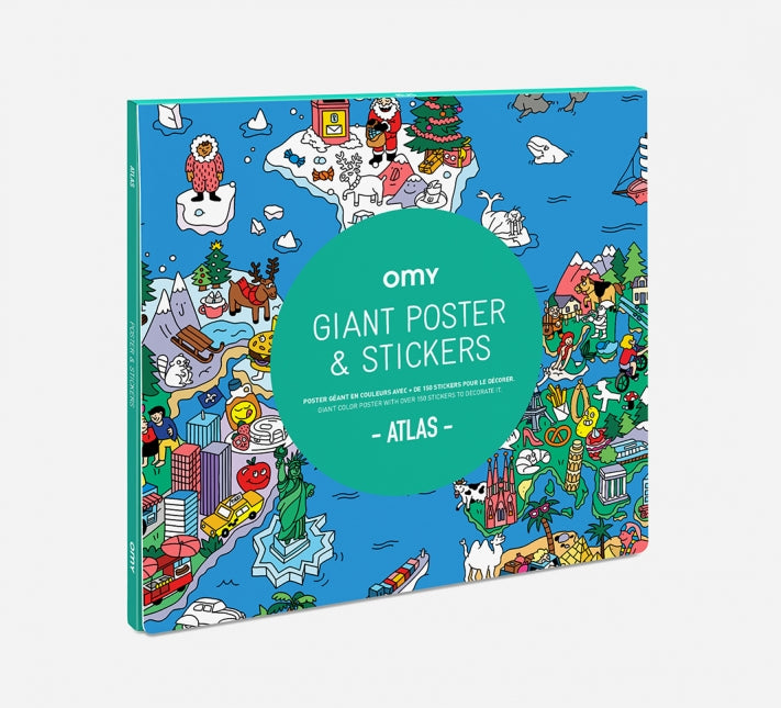 Omy Atlas Colouring In Poster & Stickers