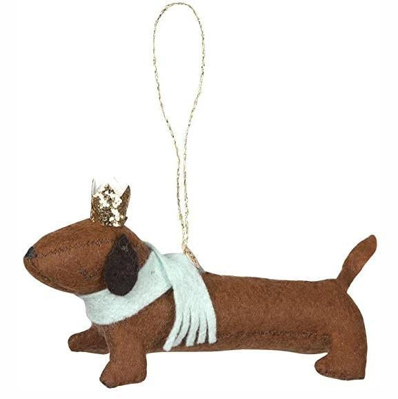 MerinMeri Sausage Dog Felt Decoration