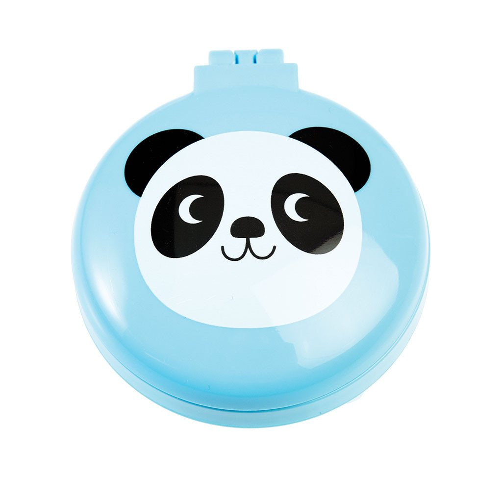 Miko The Panda Folding Hairbrush With Mirror