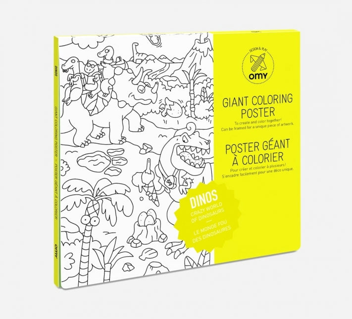 OMY Giant Dinosaur Colouring Poster