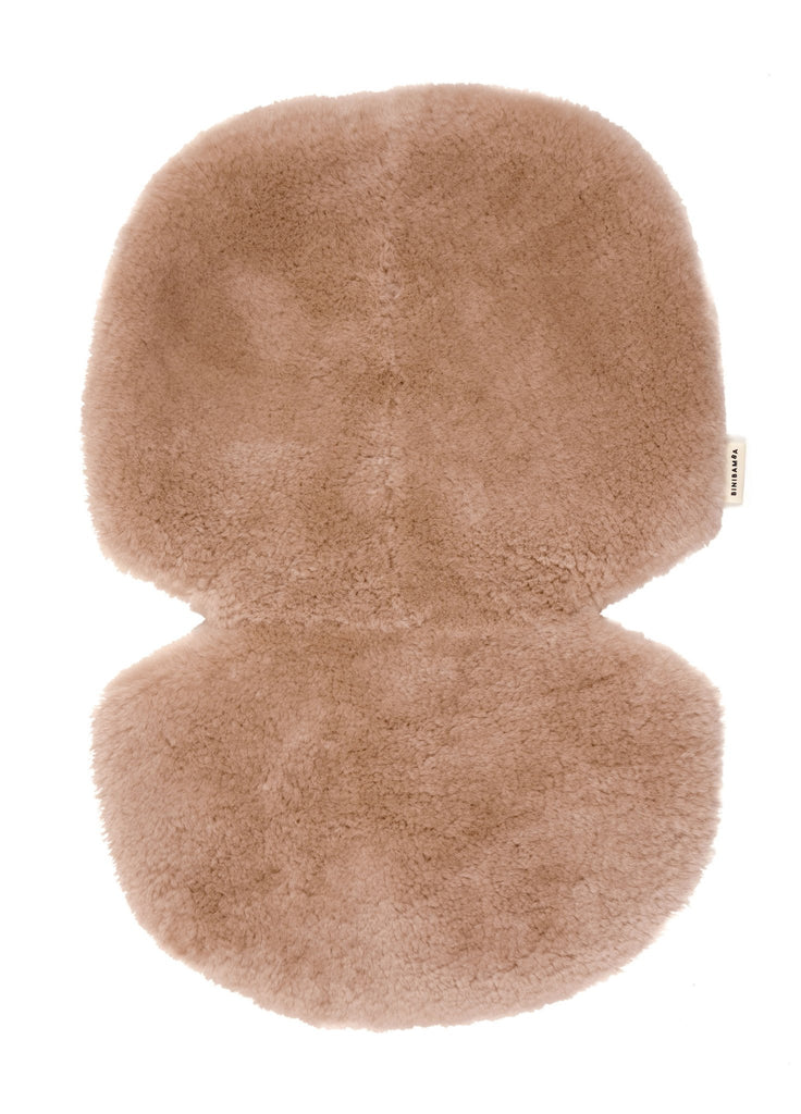 Binibamba Sheepskin Buggy Liner - Rose