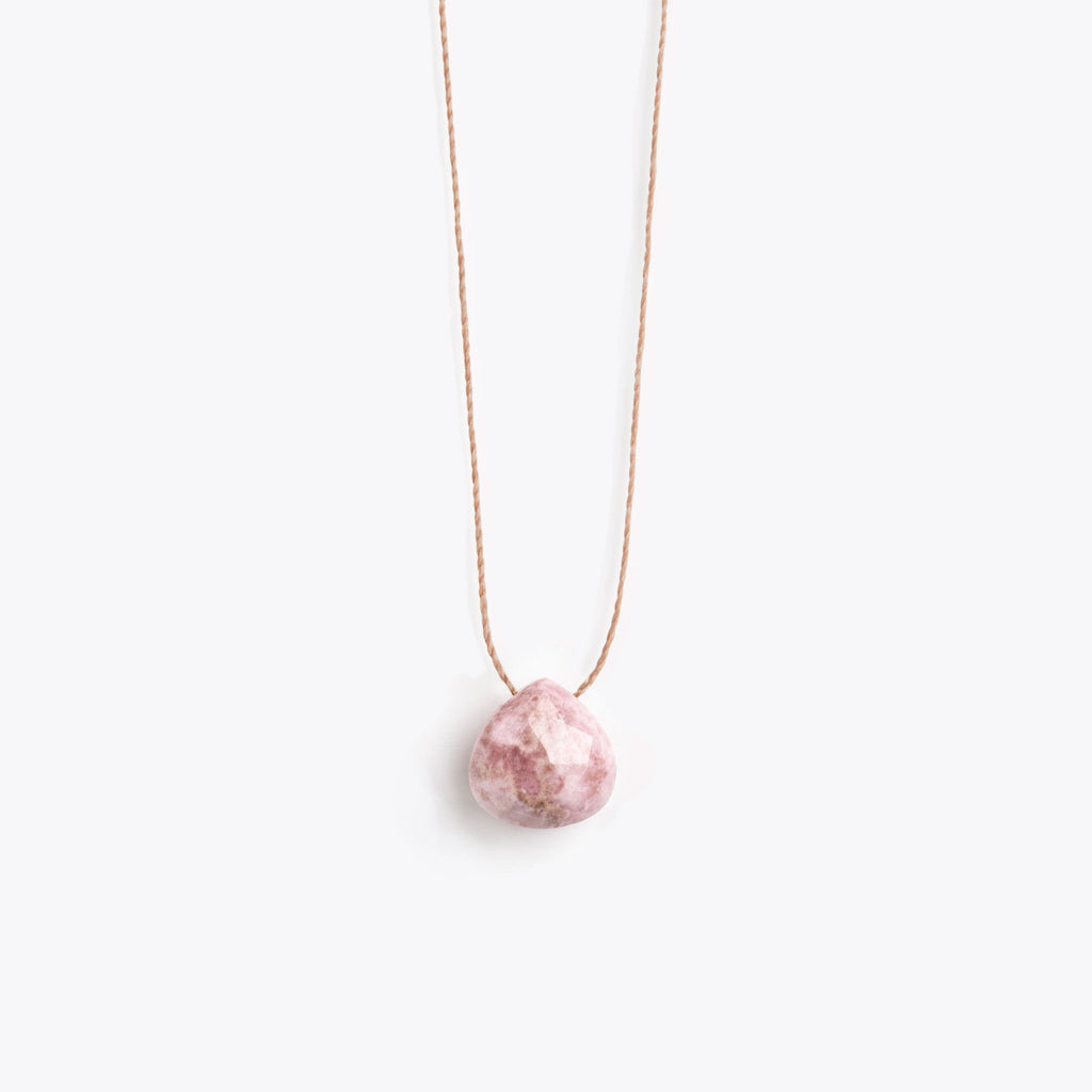 Wanderlust Life Pink Rhodonite Necklace