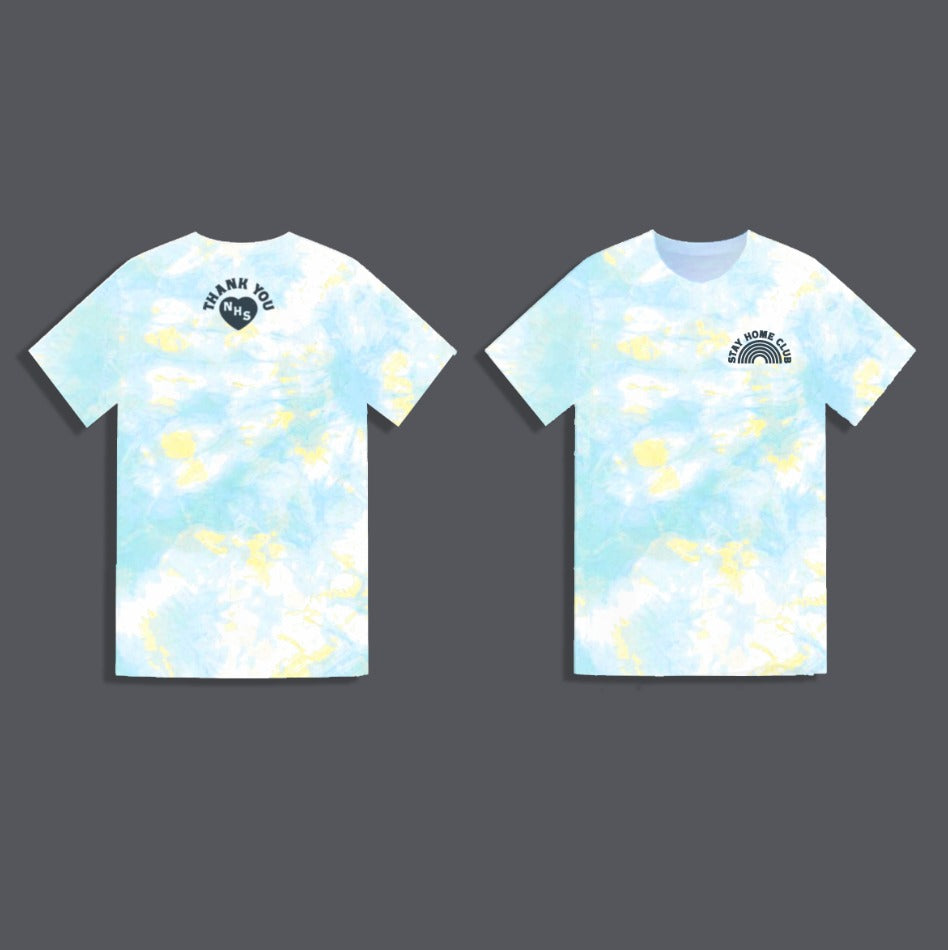 WORD Collective Stay Home Club Charity Tie Dye Grown Up Tee