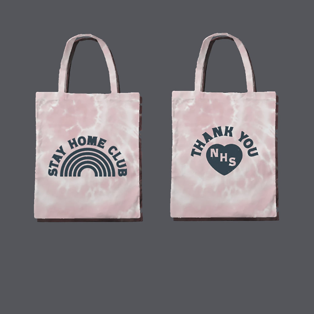 WORD Collective Stay Home Club Charity Tie Dye Tote Bag
