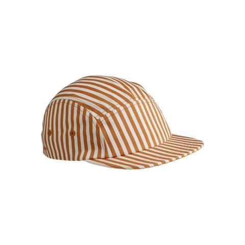 LIEWOOD Cap: Mustard and Cream Stripe