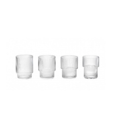 Ferm Living Ripple Glass Set of 4