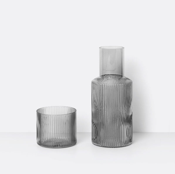Ferm Living Carafe Set Smoked Grey