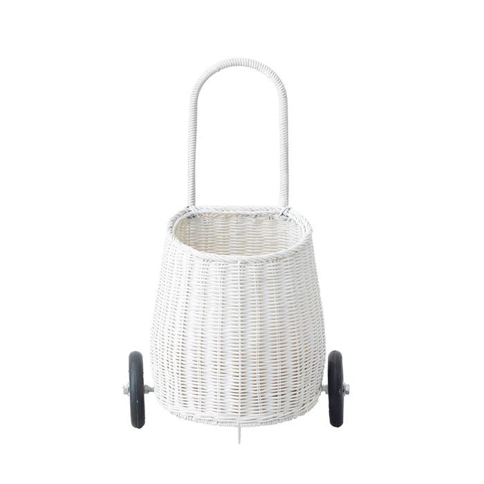 OlliElla White Luggy Basket