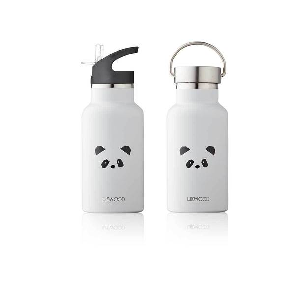 Liewood Grey Panda Bear Water Bottle
