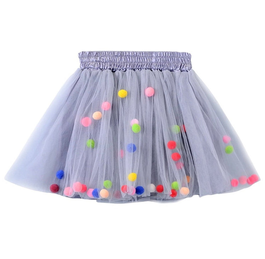Little Poms Grey Tutu