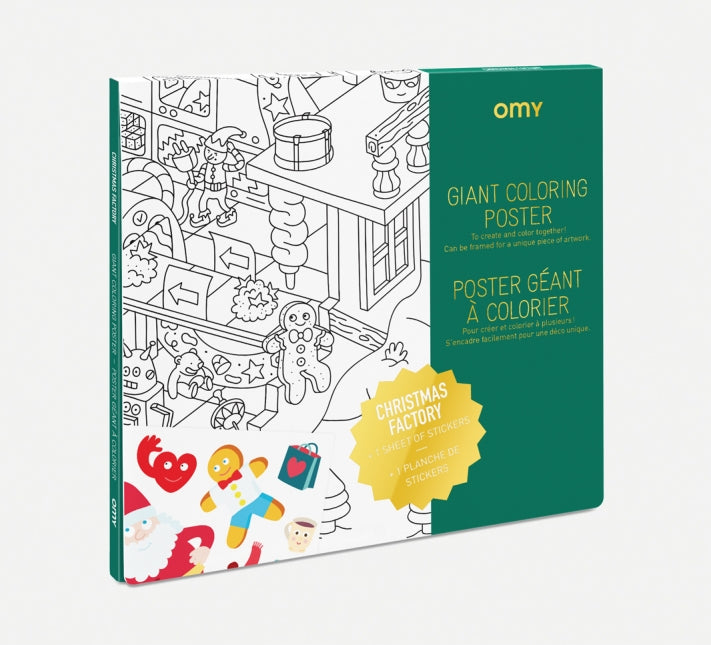 OMY Santa's Workshop Giant Colouring Poster