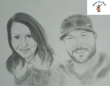 pencil sketch couple