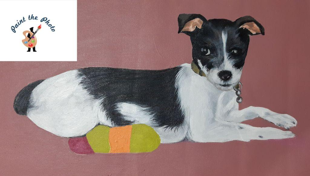 pet oil painting from photo