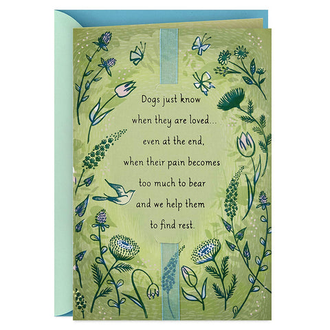 Sympathy card for dog loss