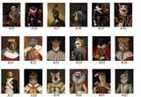 Digital Custom Pet Portraits in Renaissance & Modern style(Download only)