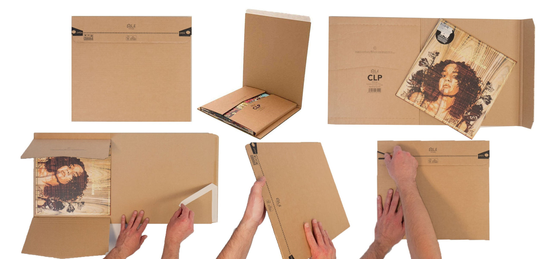 The world's Strongest Vinyl Record Packaging that is fast to pack and environmentally friendly