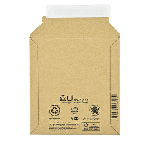 Cardboard CD Envelopes 164 x 176 mm (Lil A-CD)