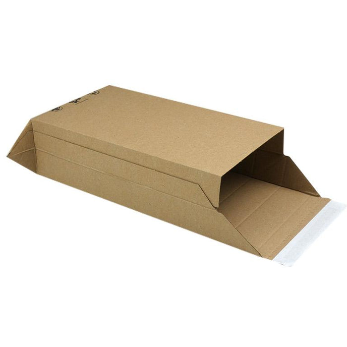 Pop up envelopes with sides - made from corrugated cardboard