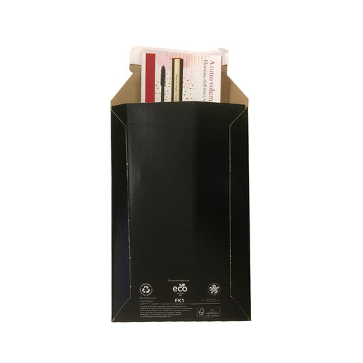 black envelope wallet cardboard luxury