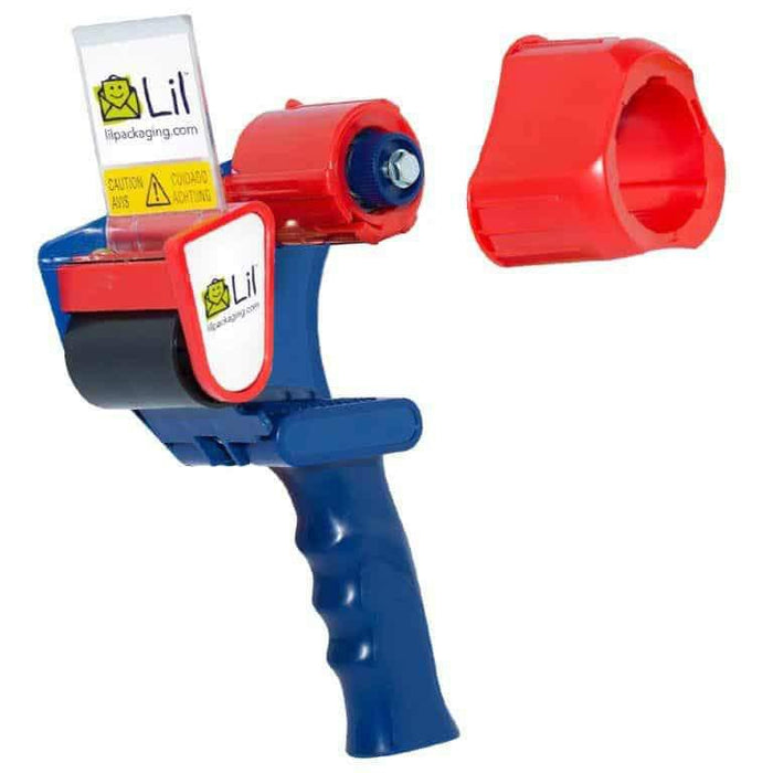 Lil tape gun dispenser with universal 2 or 3 inch core