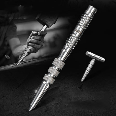 Hot Sale 3 In 1 Emergency Selfdefense Outdoor Tactical EDC Pen Portable Stainless Steel Safety Stick Emergency Survival Tool Kit