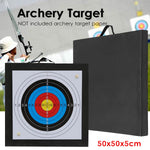 Archery Target High Density EVA Foam Shooting Practice Board Outdoor Sport Hunting Accessories RecurveCrossbow 50x50x5cm Black