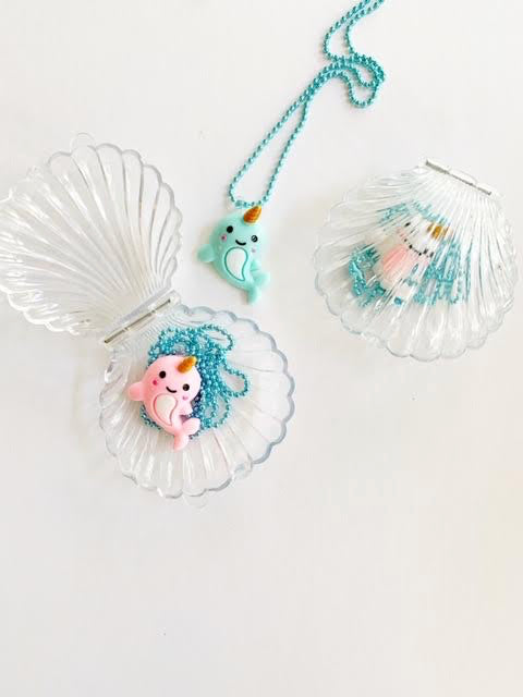 Narwhal Necklace in Sea Shell Trinket