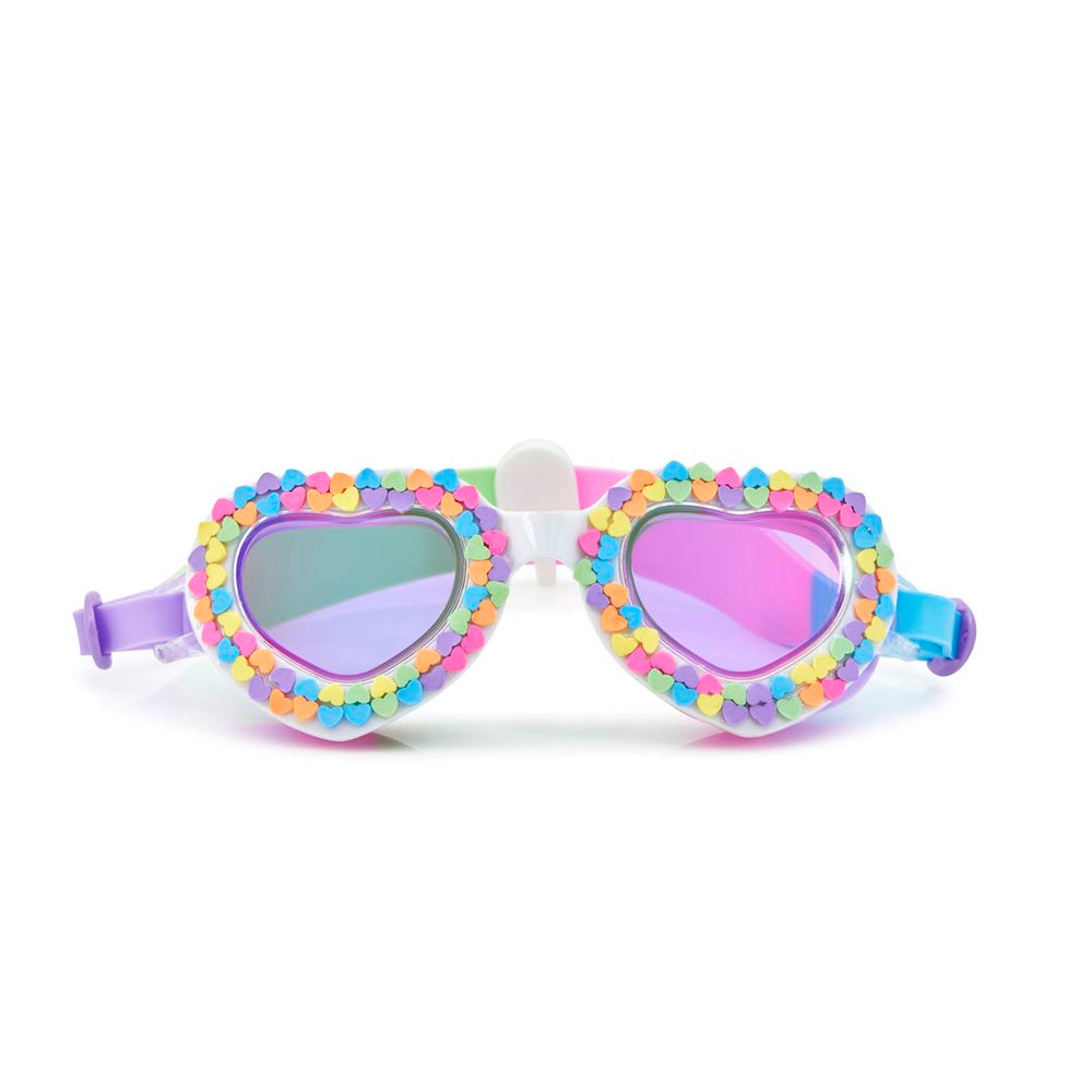 Rainbow Hearts Swim Googles